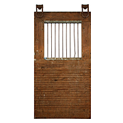 """Reclaimed Antique 44"""" Warehouse Door with Bars"""