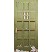 "Salvaged 36"" Multi Panel Door with Window"