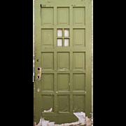 "Salvaged 36"" Multi Panel Door with Window"