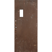 "Salvaged 36"" Antique Plank Door, Early 1900s"
