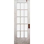 "Reclaimed 30"" Divided Light Door, Beveled Glass"