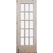 "Salvaged 30"" Divided Light Door, Beveled Glass"