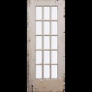 "Salvaged 30"" Divided Light Door, Beveled Glass"
