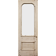 "Reclaimed Antique 32"" Door with Arched Window"