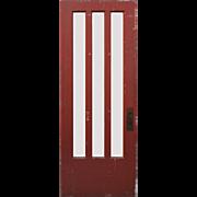 "Reclaimed 32"" Door with Beveled Glass Panes"