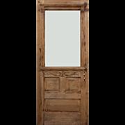 "Salvaged Antique 32"" Door with Carved Details, c.1890"