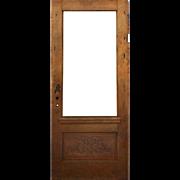 "Salvaged Antique 36"" Adam Style Door with Carved Details, c.1910"