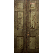 "Salvaged Pair of 44"" Double Doors, 19th Century"