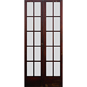 "Reclaimed Pair of 35"" Divided Light French Doors"