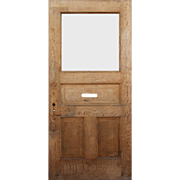 "Reclaimed 42"" Antique Quarter Sawn Oak Door"