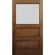 "Salvaged 45"" Antique Quarter Sawn Oak Door"