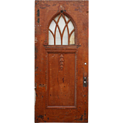 "Salvaged 39"" Door with Gothic Arch Window"