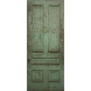 "Reclaimed Antique 40"" Five-Panel Door"