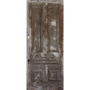 "Salvaged Antique 39"" Five-Panel Door"