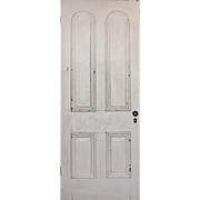 "Reclaimed 32"" Antique Door with Arched Panels, Late 19th Century"