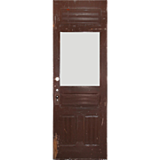 "Reclaimed 32"" Antique Door, Late 19th Century"