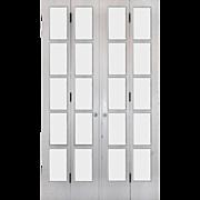 Salvaged Set of Antique Divided Light Bi-Fold Doors