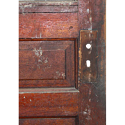 "Salvaged 34"" Antique Door, Early 1900s"