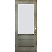 Salvaged Antique Door with Egg-and-Dart Trim, Early 1900s