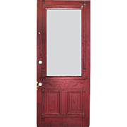 "Reclaimed Antique 34"" Eastlake Door, Late 19th Century"
