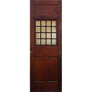 "Salvaged 30"" Antique Door, Early 1900s"