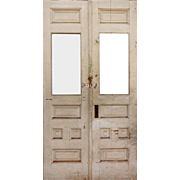 """Reclaimed 44"""" Pair of Antique Doors, Early 1900s"""