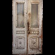 """Reclaimed 44"""" Antique Door Pair, Late 19th Century"""