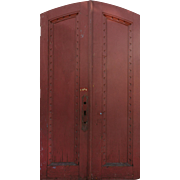 "Salvaged Pair of 53""Arched Doors, Early 1900s"