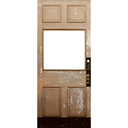 "Salvaged 40"" Antique Door, Early 1900s"