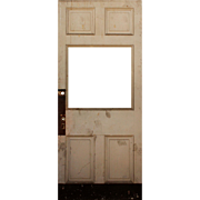"Reclaimed 40"" Antique Door, Early 1900s"