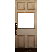 "Salvaged 39"" Antique Door, Early 1900s"