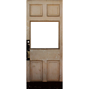 "Reclaimed 39"" Antique Door, Early 1900s"