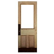 """Salvaged 36"""" Antique Door, Early 1900s"""