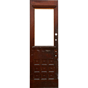 "Reclaimed 29"" Antique Door, Dentil Trim"