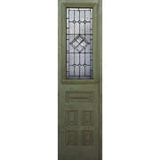 "Reclaimed 24"" Door with Beveled and Leaded Glass"