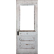 """Salvaged 32"""" Eastlake Door with Chippy Paint"""