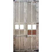 Reclaimed Antique Carriage Door Pair, Early 1900s