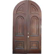 Reclaimed Antique Arched Double Doors, c. 1880's