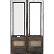 "Salvaged 44"" Pair of Antique Doors, Early 1900s"