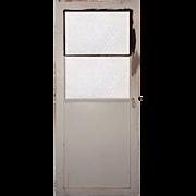 Reclaimed Antique 3' Industrial Metal Door with Wire Glass