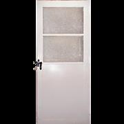 Salvaged Antique 3' Industrial Metal Door with Wire Glass