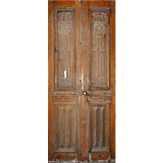 Salvaged French Colonial Revival Door Pair, Early 1900s