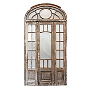 Salvaged Antique Arched Entry Set