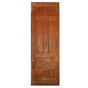 Substantial Salvaged Antique 3' Pocket Door, Oak