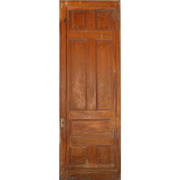 Substantial Salvaged Antique 3' Pocket Door, Oak