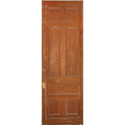 Substantial Reclaimed Antique 3' Pocket Door, Oak