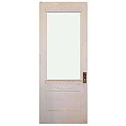 "Reclaimed 32"" Eastlake Door with Carved Details"