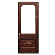 """Salvaged Antique 32"""" Door with Carved Foliates"""