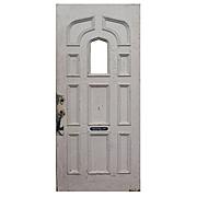 "Salvaged Antique 36"" Door with Ogee Arch Window"