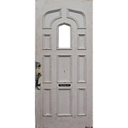 "Salvaged Antique 36"" Door with Ogee Arch Window"